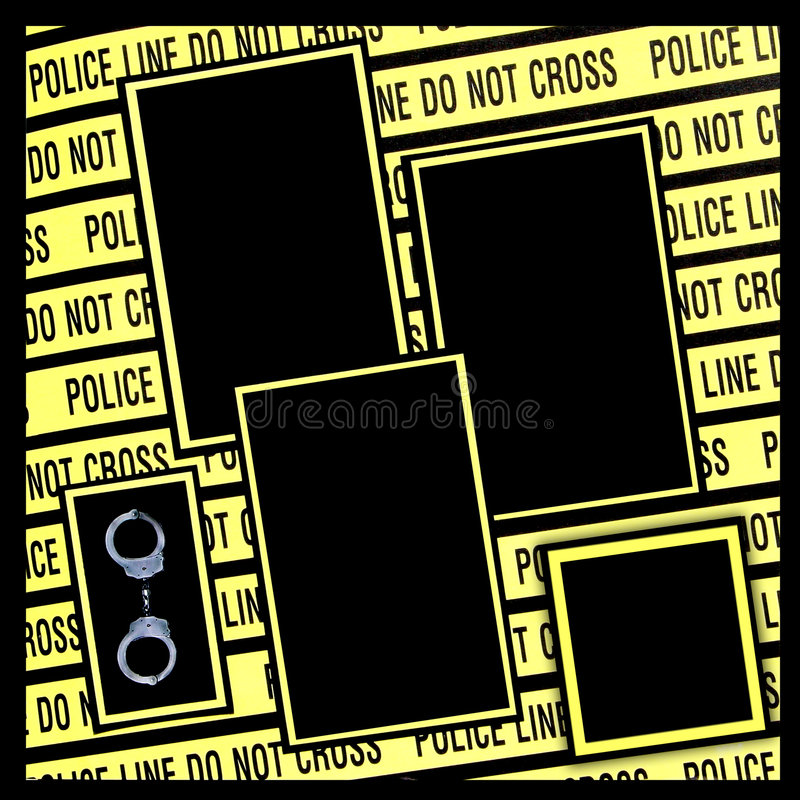 Police Line Digital Scrapbook Page royalty free stock photography