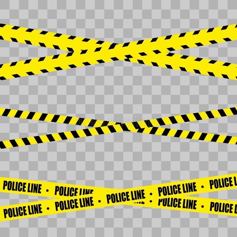 Police Line Set stock illustration