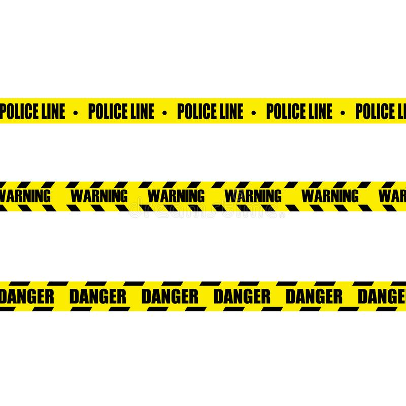Police Line Set royalty free illustration