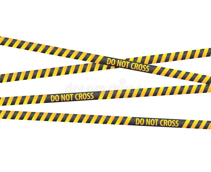 Download Police Line Tapes Royalty Free Stock Image - Image: 14621476