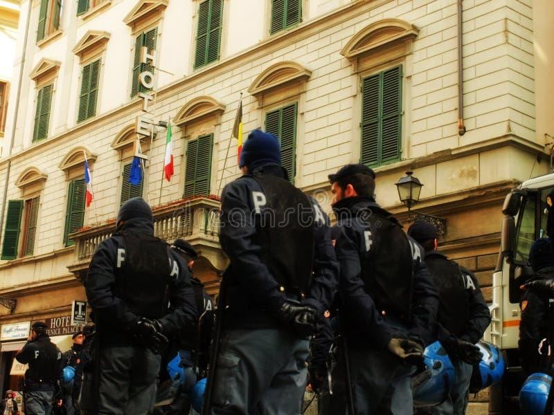 Police manifestation control force royalty free stock photo