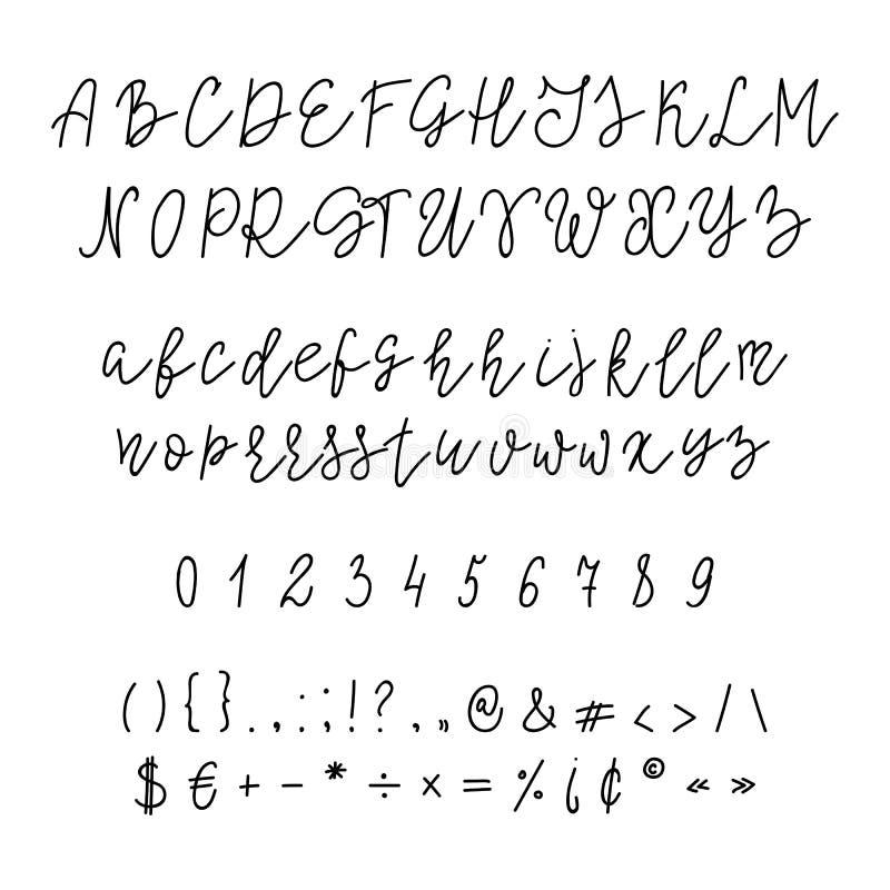 Police manuscrite de calligraphie illustration libre de droits