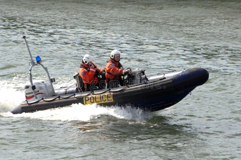Police marine patrol royalty free stock photography