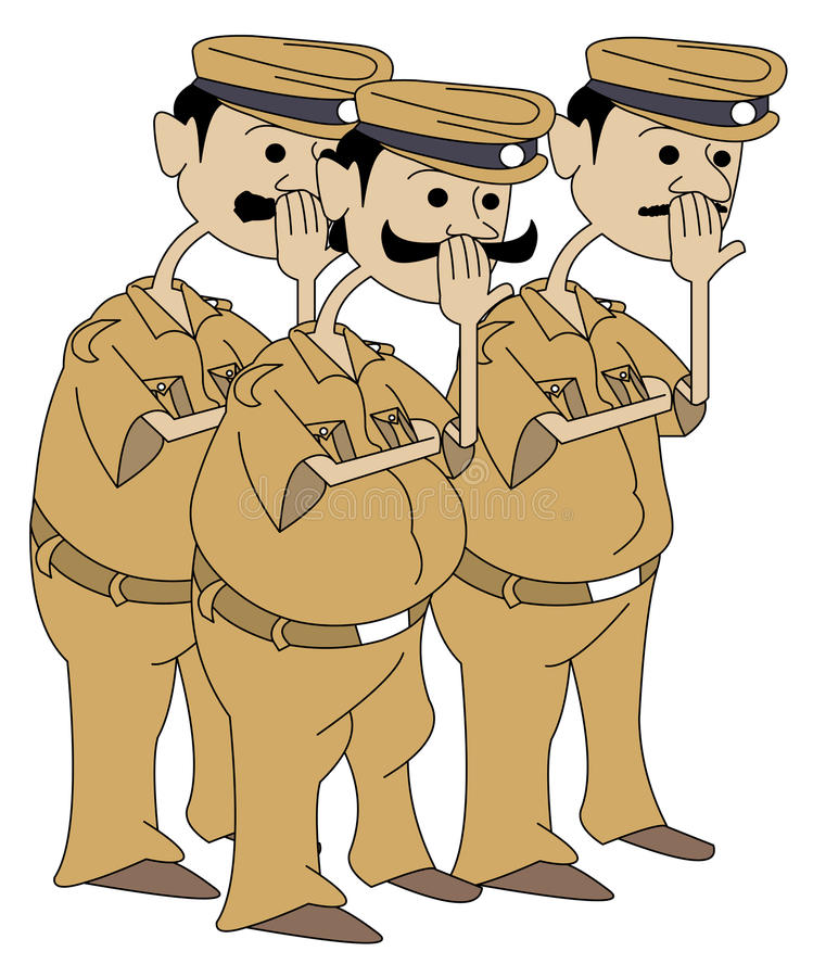 Police Men Royalty Free Stock Photo