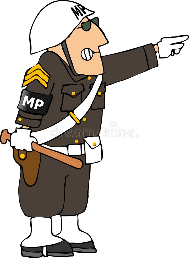 Police militaire illustration stock