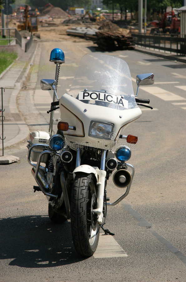Police motorbike stock photography