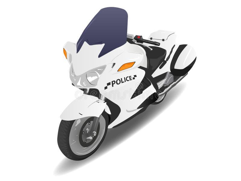 Police Motorcycle Motor Bike. Over White vector illustration