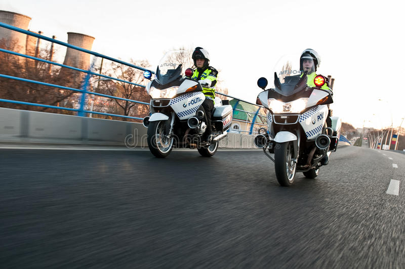Police motorcycle royalty free stock photography