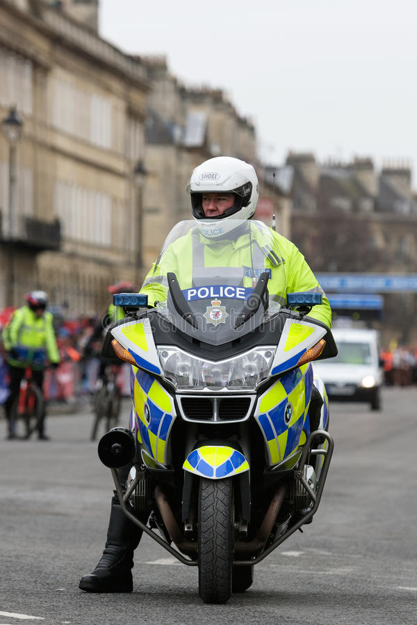 Police Motorcyle Officer,UK. Editorial Stock Image