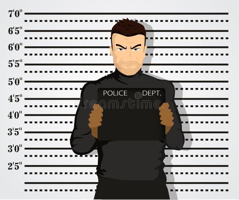 Police mug shot stock illustration