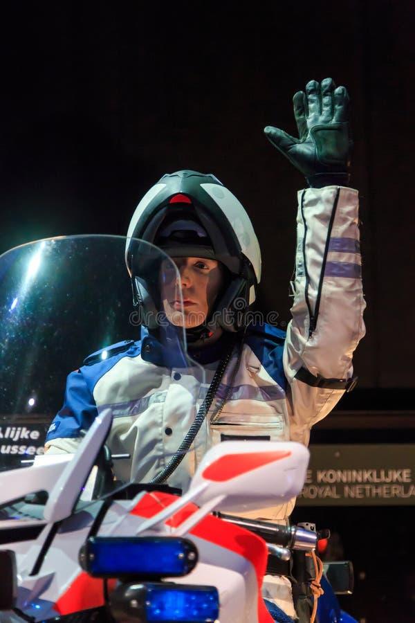Police néerlandaise de moto images stock