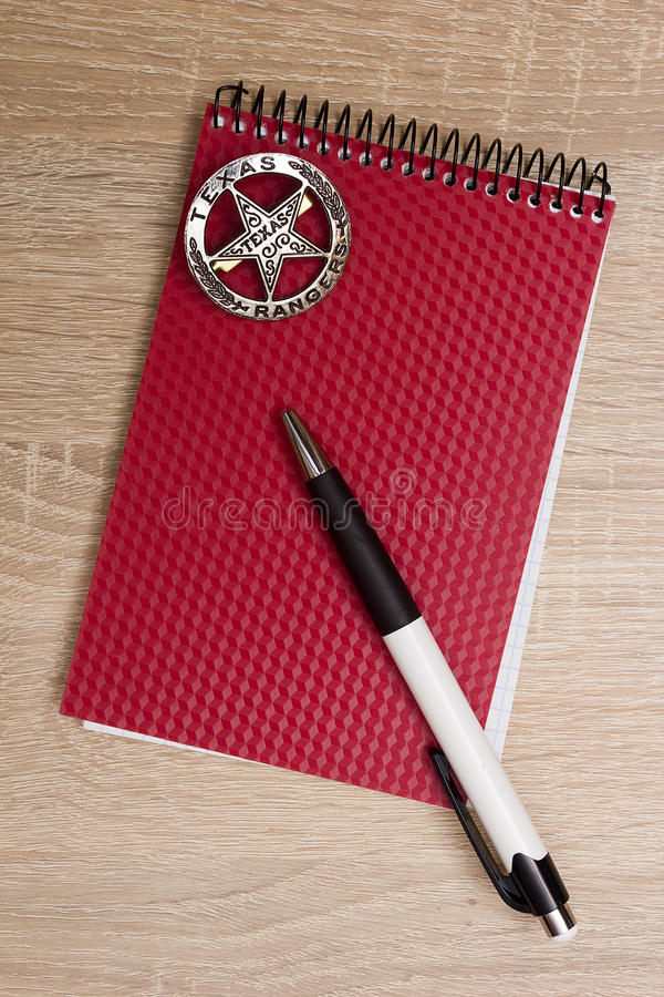 Police notebook royalty free stock photography