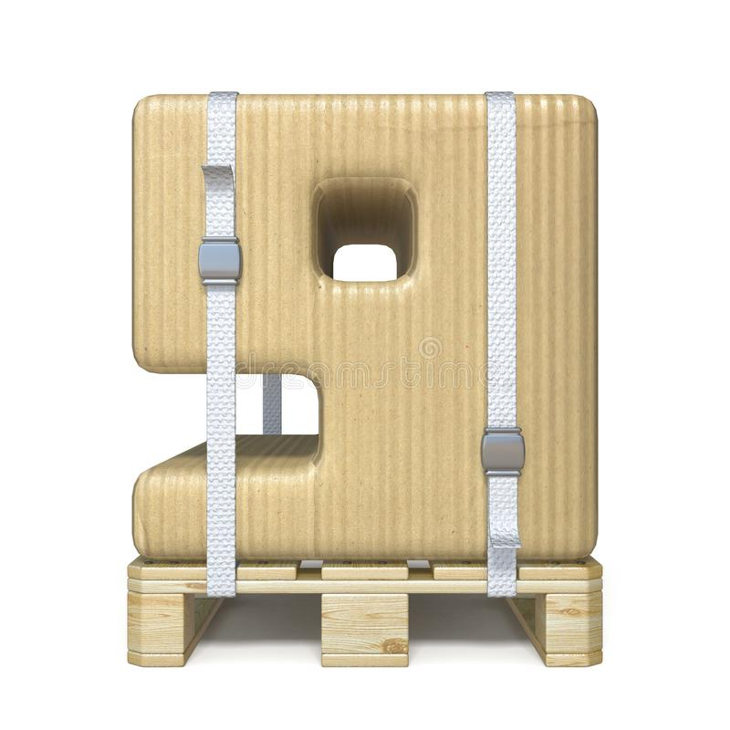 Police numéro 9 NEUF de boîte en carton sur la palette en bois 3D illustration stock