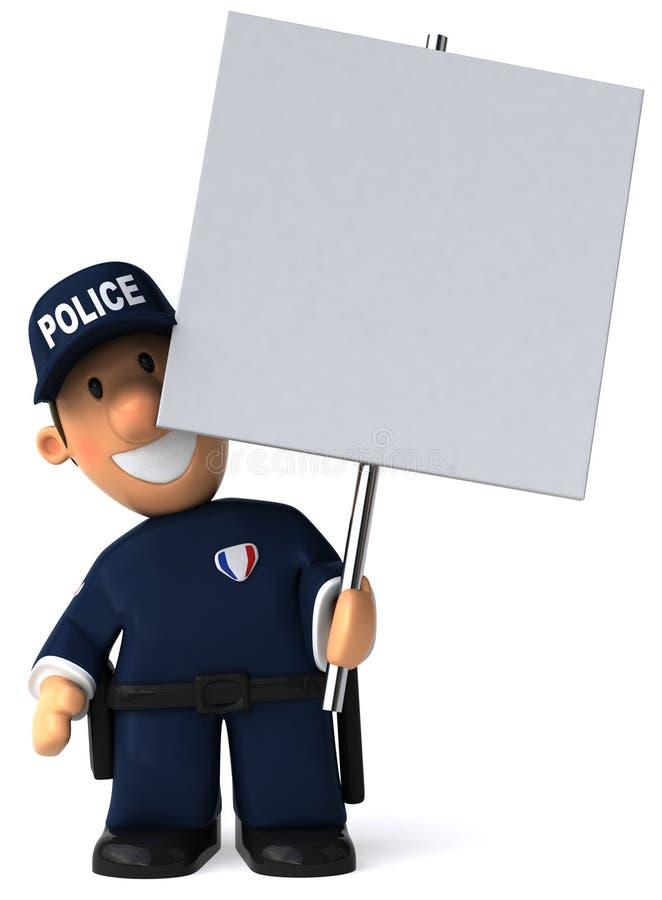 Police officer stock illustration