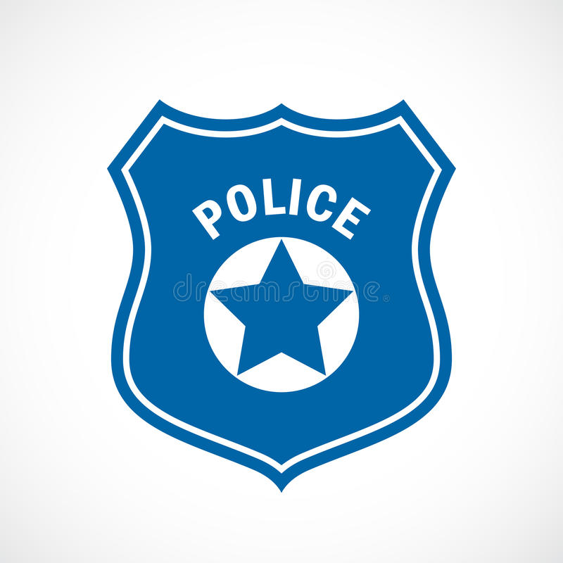 Police officer badge icon vector illustration