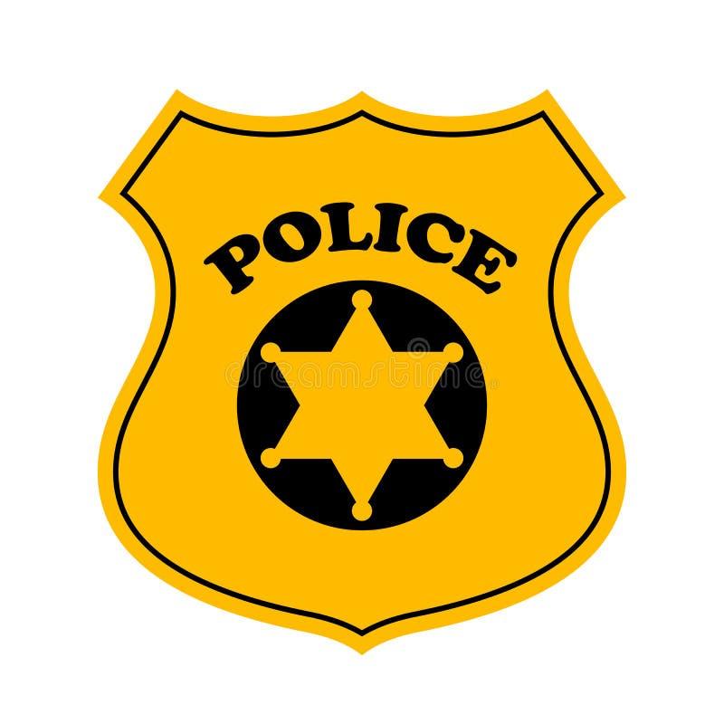 police officer badge vector icon stock vector illustration of rh dreamstime com police badge vector free download vector image police badge
