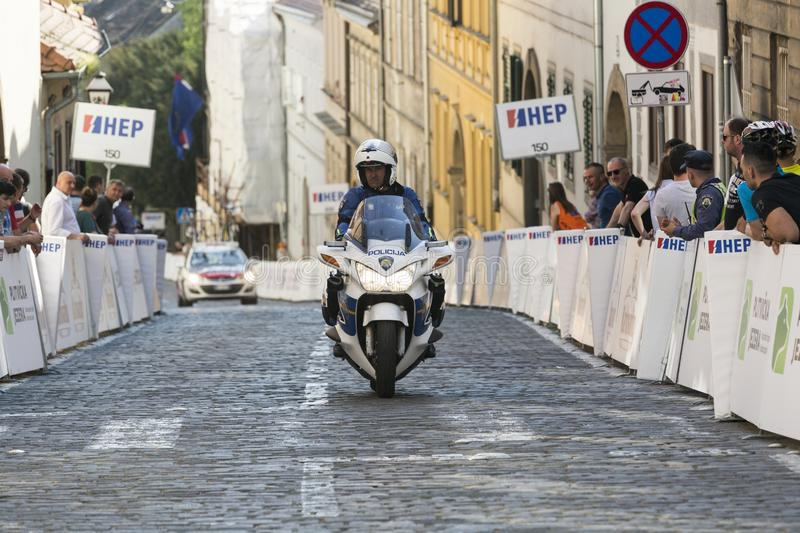 Police officer in Croatia royalty free stock photography