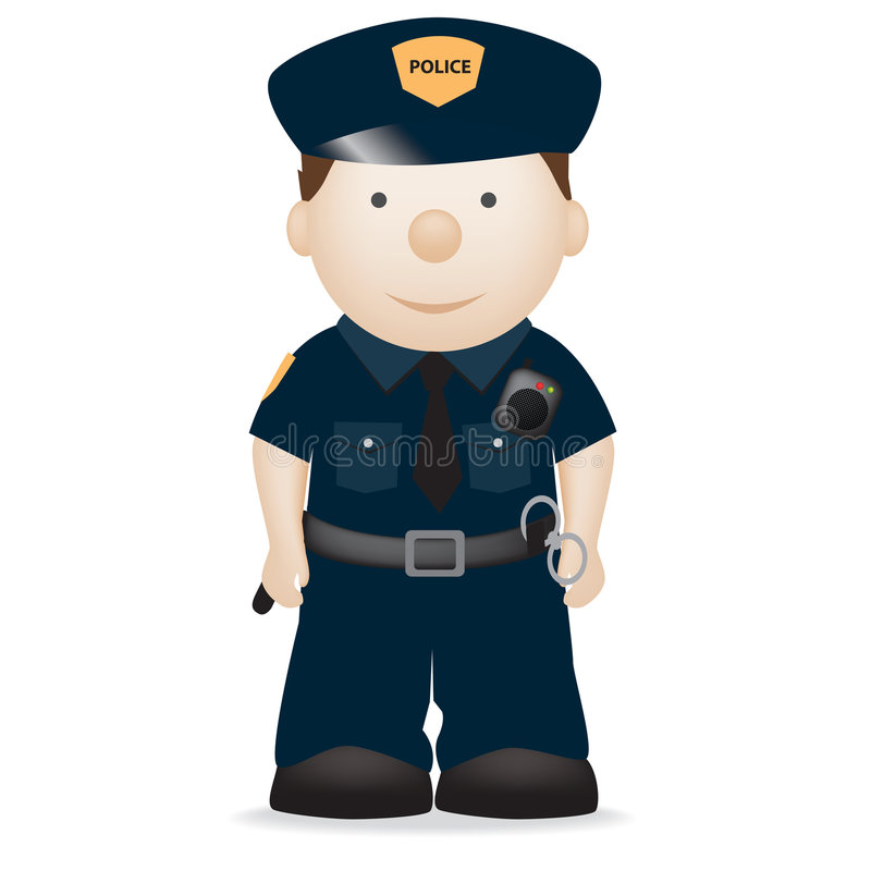 Police officer new york vector illustration