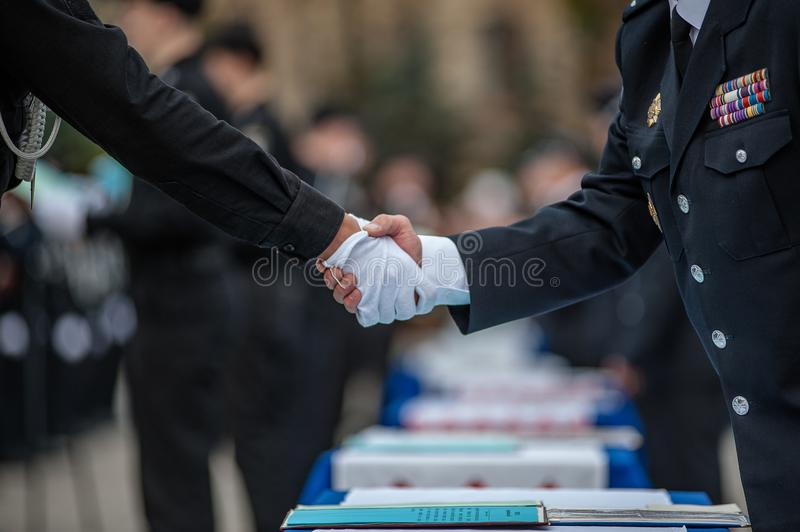 Police Officer Oath royalty free stock photography