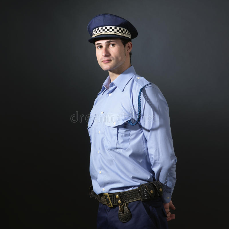 Police officer standing up. royalty free stock photos