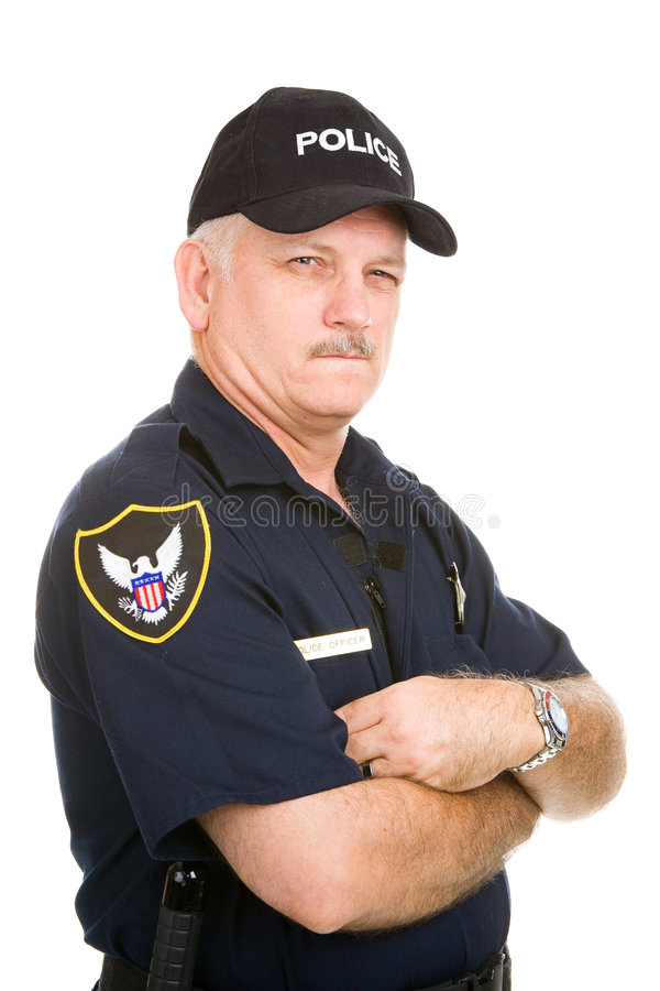 Free Police Officer - Suspicious Royalty Free Stock Images - 7051919