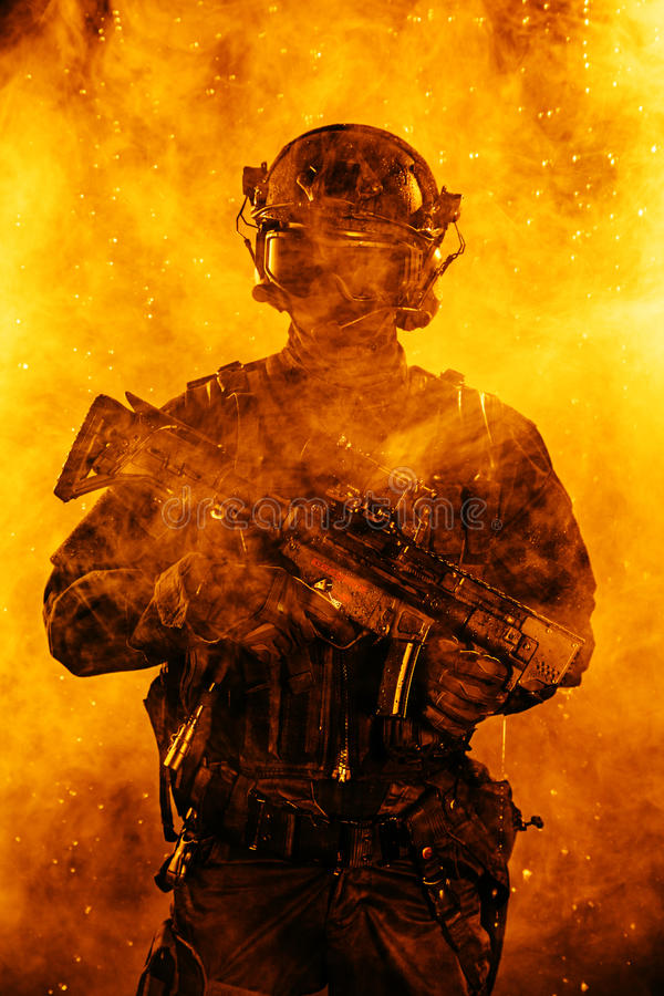 Police officer SWAT stock photography