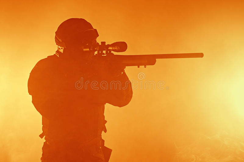 Police officer SWAT royalty free stock image