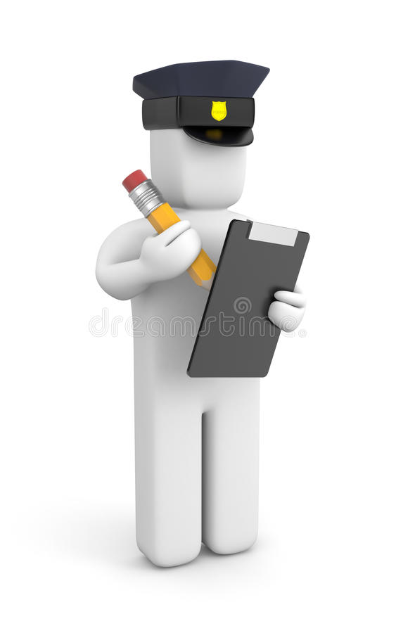 Free Police Officer Writing A Ticket Stock Photos - 31189603