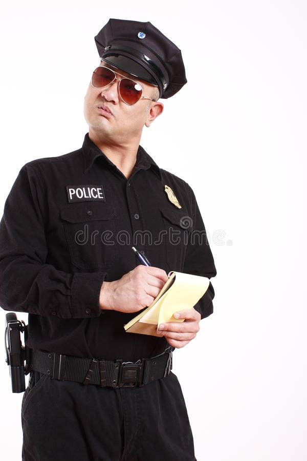 Download Police Officer Writing Citation Stock Photo - Image of citation, police: 12328784