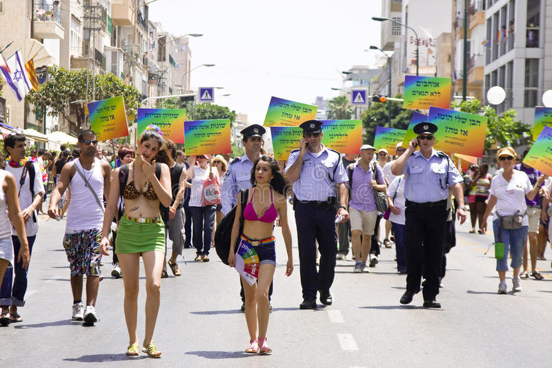 Download Police Officers Providing Safety At Pride March TA Editorial Stock Photo - Image: 20096723