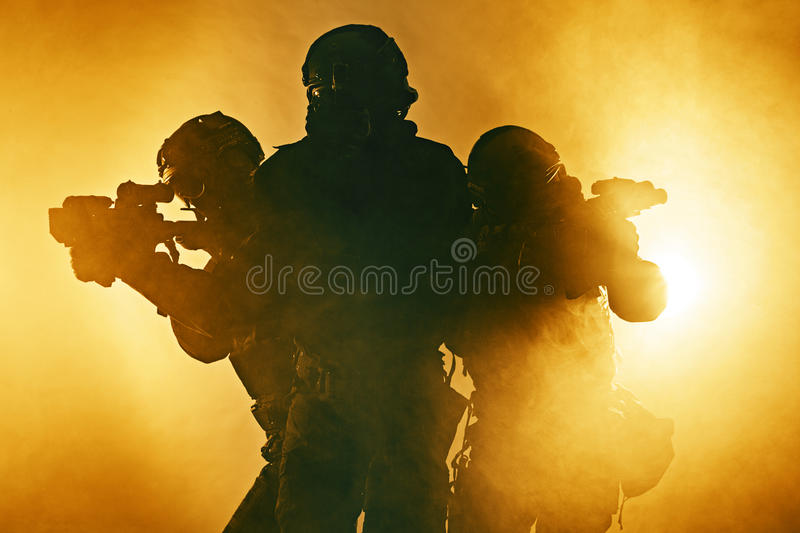 Police officers SWAT royalty free stock photos