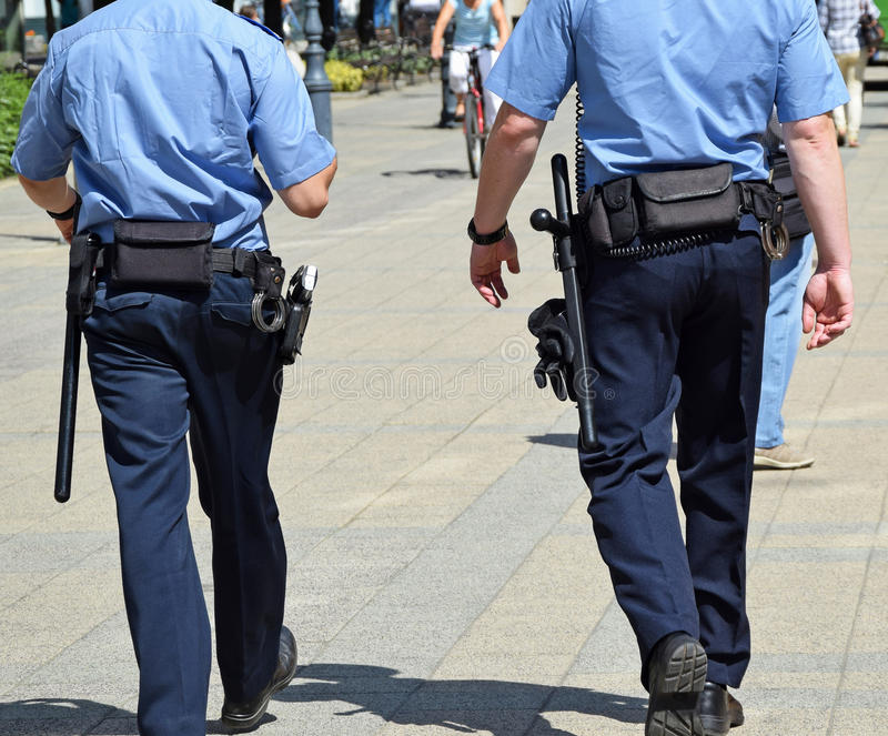 Police officers royalty free stock photography