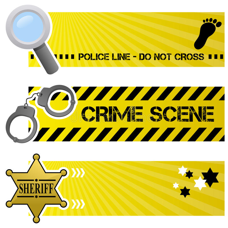 Download Police & Order Horizontal Banners Stock Vector - Image: 37936725