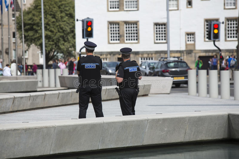 Download Police On Patrol At The Parliament Building, Edinburgh Editorial Stock Image - Image: 43673454