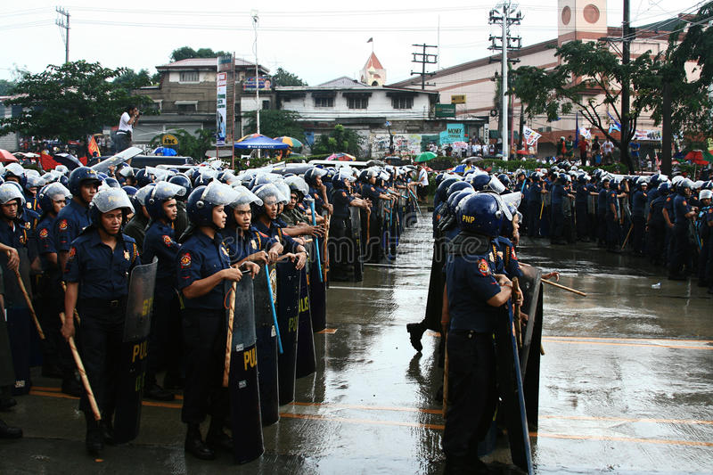 police philippine nationale de force images stock