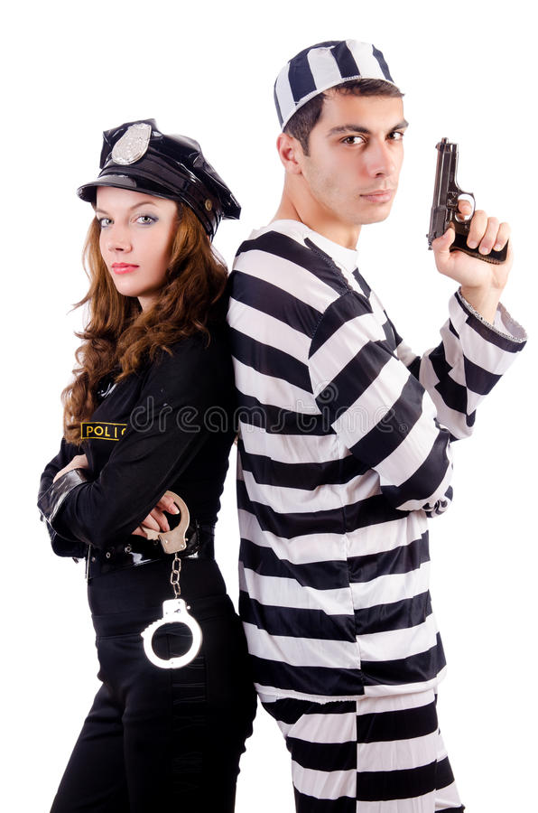 Download Police and prison inmate stock photo. Image of lawbreaker - 30346762