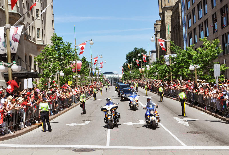 Police and RCMP in Canada Day. Ottawa royalty free stock image