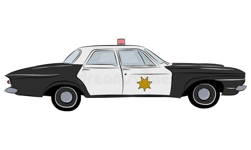 Police retro car. stock illustration