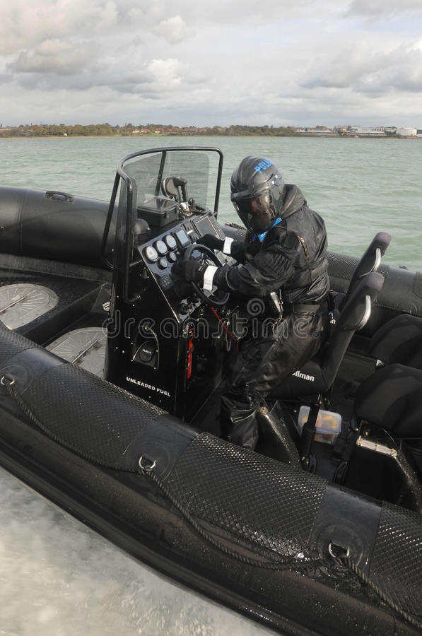 Police RIB coming alongside royalty free stock images