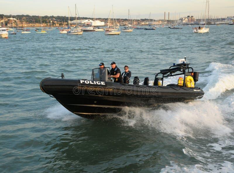 Police RIB patrol stock photography