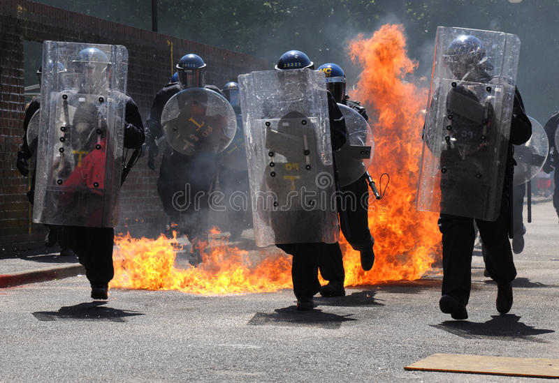 Download Police Riot Shields editorial stock photo. Image of weapons - 31369893