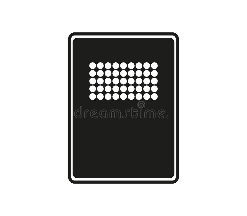 Police riot shield icon. On white background stock illustration