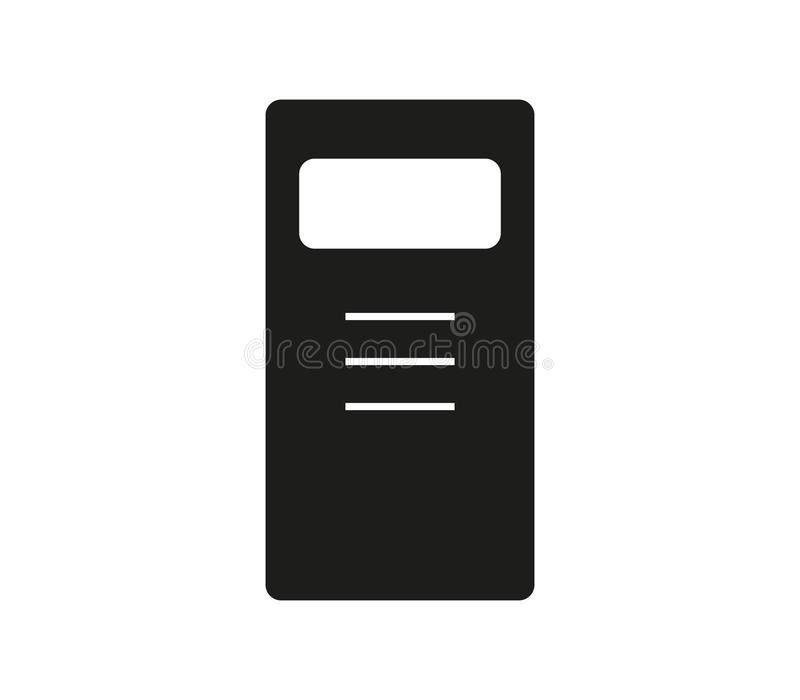 Police riot shield icon. On white background royalty free illustration