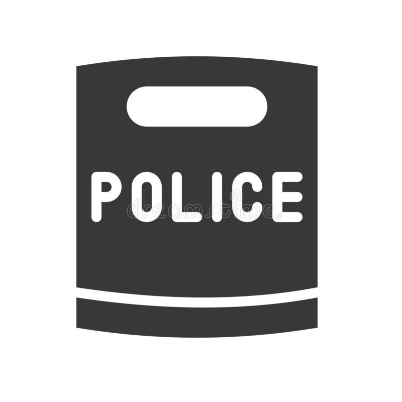 Police riot shield solid icon, vector illustration.  vector illustration