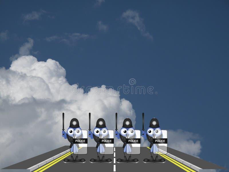 Police roadblock stock illustration