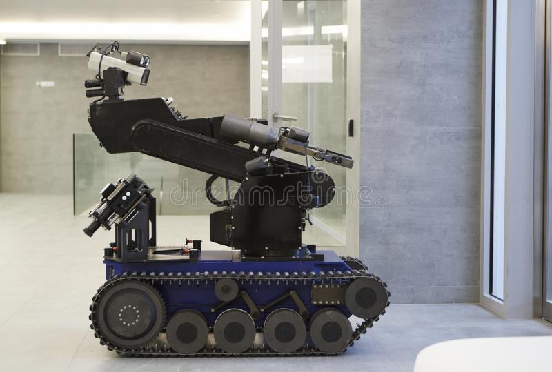 Police robot. The police robot for working with bomb in building