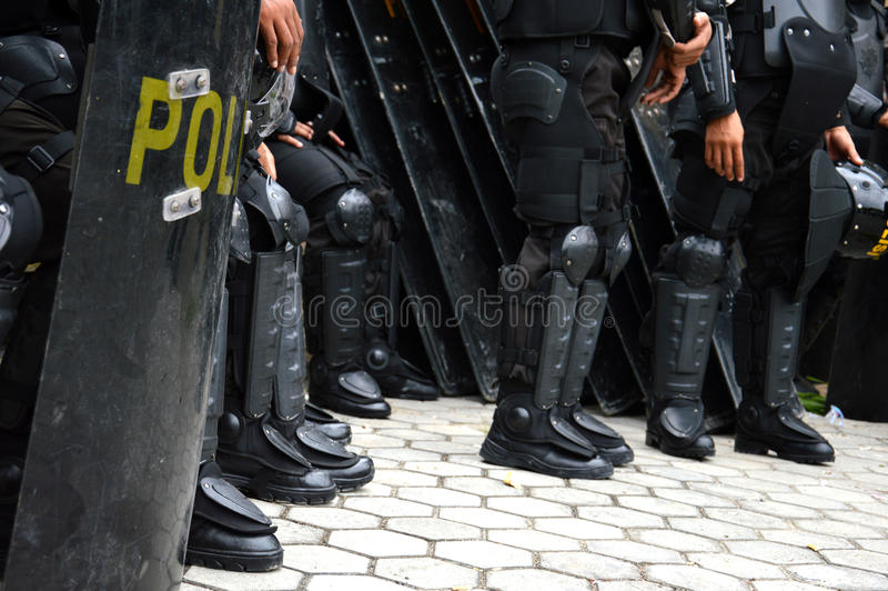 Download Police shield stock photo. Image of downtown, demonstration - 34441170