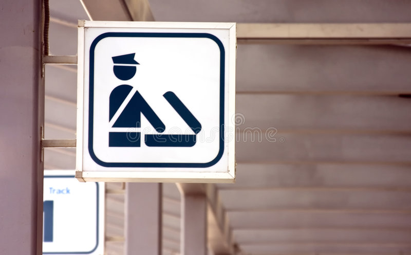 Police sign royalty free stock photos