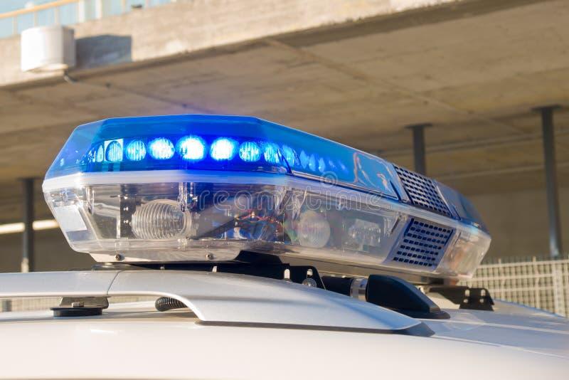 Police siren. Blue police siren in a car royalty free stock photo