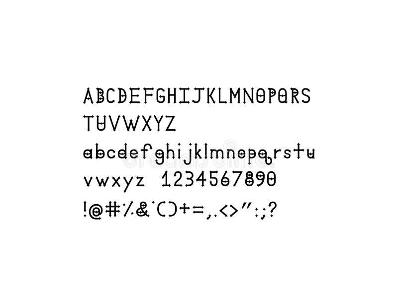 Police solide d'alphabet de Dymond Speers images libres de droits